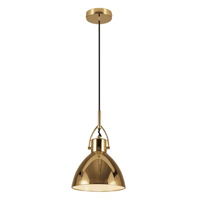 Laito 1-Light Bowl Pendant Shade Color: Copper