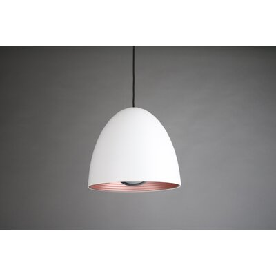 1-Light Bowl Pendant Shade Color: White