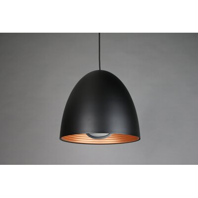 1-Light Bowl Pendant Shade Color: Black
