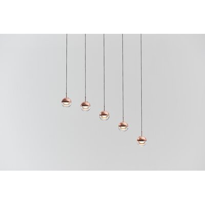 Dora 5-Light Pendant Finish: Copper