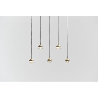 Dora 5-Light Kitchen Island Pendant Finish: Brass