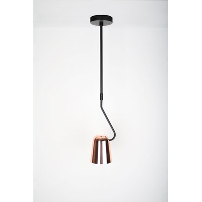 Dobi 1-Light Mini Pendant Shade Color: Copper/Black