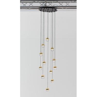 Dora 12-Light LED Cluster Pendant Finish: Brass