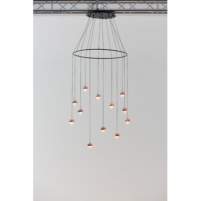 Dora 12-Light LED Cluster Pendant Finish: Copper