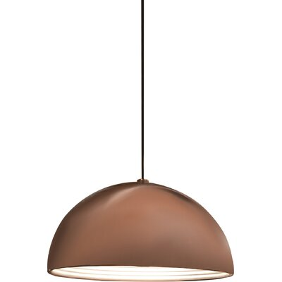 1-Light Dome Inverted Pendant Shade Color: Copper, Size: Large