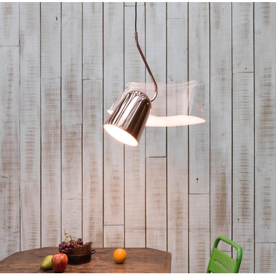 Dodo 1-Light Inverted Pendant Shade Color: Copper