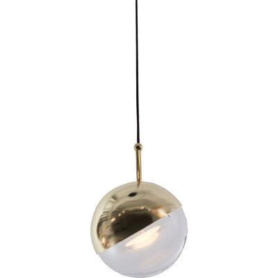 Dora 1-Light LED Mini Pendant Finish: Brass