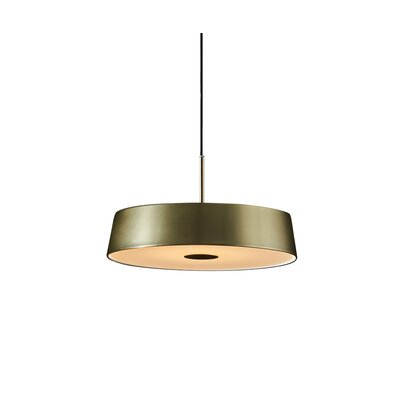 1-Light Drum Pendant Finish: Matte Brass/Black