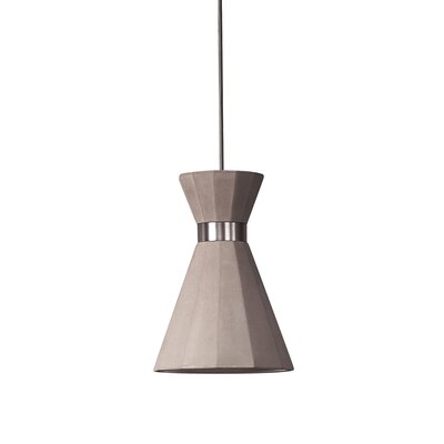 Castle Mermaid 1-Light Mini Pendant Finish: Matt Brass, Size: 78.7 H x 7.9 W x 7.9 D