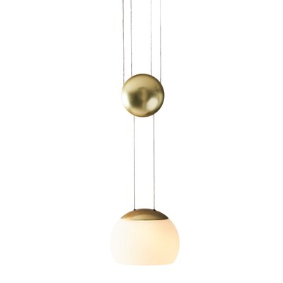 JoJo 1-Light Mini Pendant Finish: Brass
