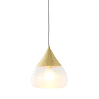 Mist 1-Light Bowl Pendant Color: Matte Brass