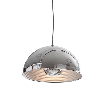 1-Light Inverted Pendant Shade Color: Chrome, Size: Medium