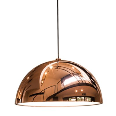 1-Light Inverted Pendant Shade Color: Copper, Size: Medium