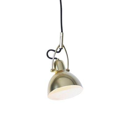 Laito 1-Light Inverted Pendant Shade Color: Brushed Brass