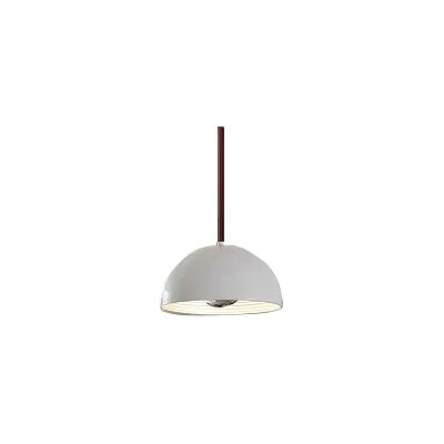 1-Light Inverted Pendant Shade Color: White, Size: Medium