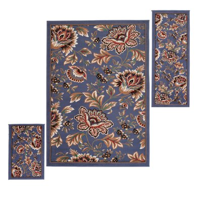 Element Set Blue Area Rug