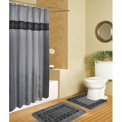 Riviera 15 Piece Luxury Shower Curtain Set