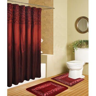 Riviera Luxury 15 Piece Bath Set Color: Red
