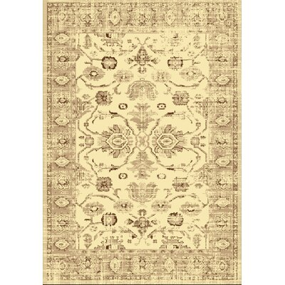 Soho Cream Area Rug Rug Size: 8 x 11