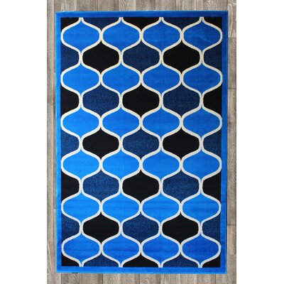 Chateau Royal Blue Area Rug Rug Size: 74 x 106