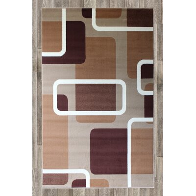 Chateau Beige Area Rug Rug Size: 74 x 106