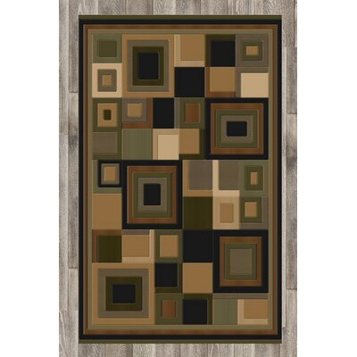 Soho Brown Area Rug Rug Size: 8 x 11