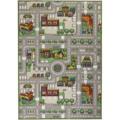 Gray Area Rug Rug Size: Rectangle 7 x 106