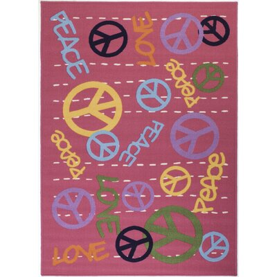 Pink Area Rug Rug Size: Rectangle 7 x 106