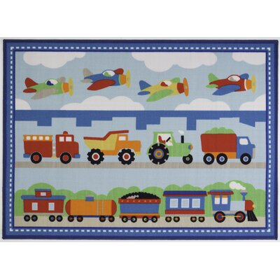 Blue Area Rug Rug Size: Rectangle 7 x 106