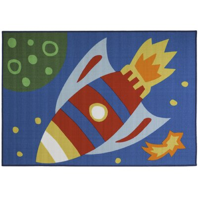 Blue Area Rug Rug Size: Rectangle 410 x 7