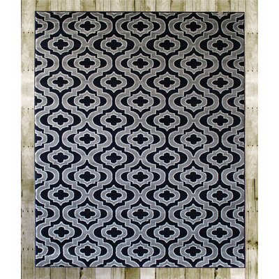 Courtdale Navy Blue/Gray Area Rug Rug Size: 38 x 5