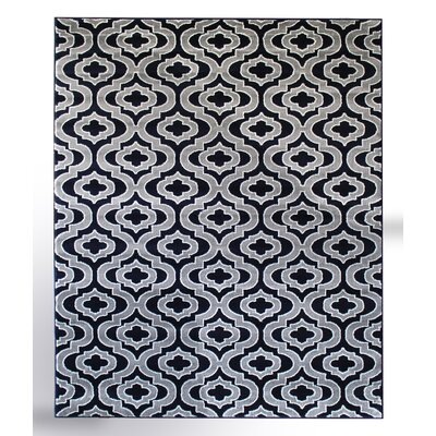 Summit Elite Navy Blue/Gray Area Rug Rug Size: 2 x 3