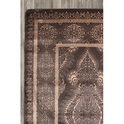 Paris Brown Area Rug Rug Size: 5'2