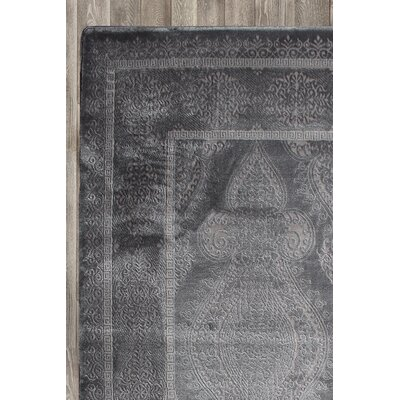 Paris Gray Area Rug Rug Size: 52 x 72