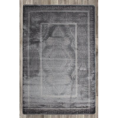 Paris Gray Area Rug Rug Size: 74 x 106