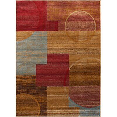 Gulistan Power Loomed Teracotta Area Rug Rug Size: 74 x 106