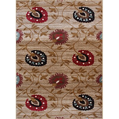 Gulistan Power Loomed Cream Area Rug Rug Size: 38 x 5
