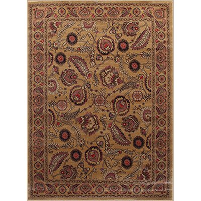 Gulistan Power Loomed Golden Area Rug Rug Size: 2 x 3