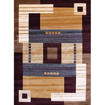 Gulistan Power Loomed Burgundy Area Rug Rug Size: 53 x 72