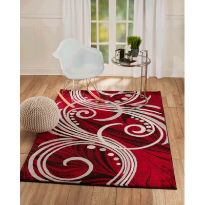 Vickers Red Area Rug Rug Size: Runner 11 x 7