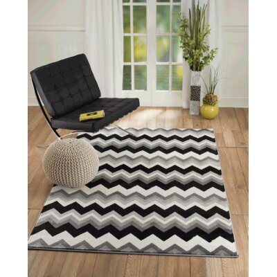 Bernal Gray Area Rug Rug Size: 5 x 7