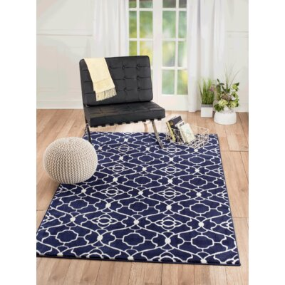 Summit Elite Navy Blue Area Rug Rug Size: Rectangle 8 x 11