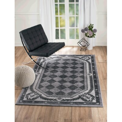 Summer Elite Gray Diamond Modern Area Rug Rug Size: Rectangle 4 x 5