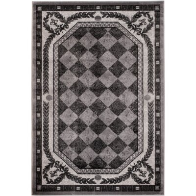 Summer Elite Gray Diamond Modern Area Rug Rug Size: 5 x 7