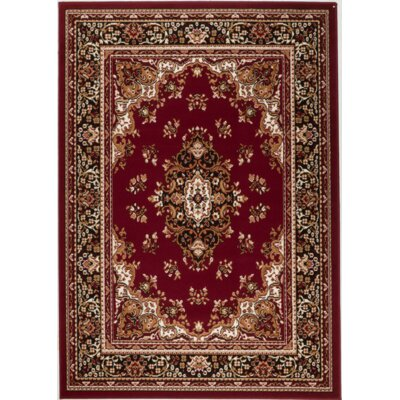 Chateau Red Area Rug Rug Size: 110 x 211