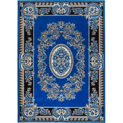 Chateau Blue Area Rug Rug Size: 110 x 211