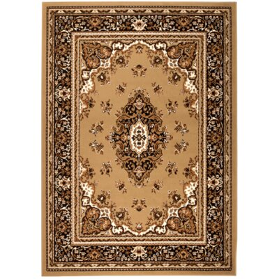 Chateau Beige/Brown Area Rug Rug Size: 74 x 106