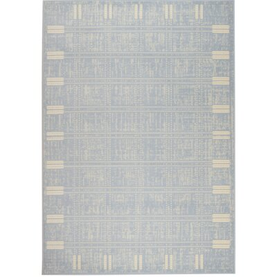 Chateau Light Blue Area Rug Rug Size: 110 x 211