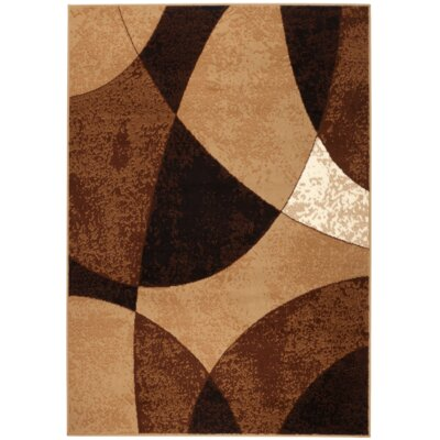 Chateau Beige/Brown Area Rug Rug Size: 5 x 7