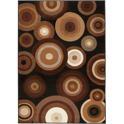 Chateau Black/Brown Area Rug Rug Size: 74 x 106
